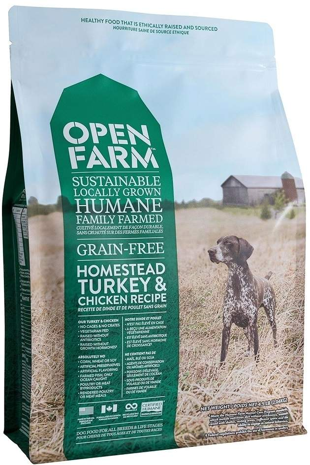 Open Farm Grain-Free Homestead Turkey and Chicken Recipe Dry Dog Food, 4.5-lb