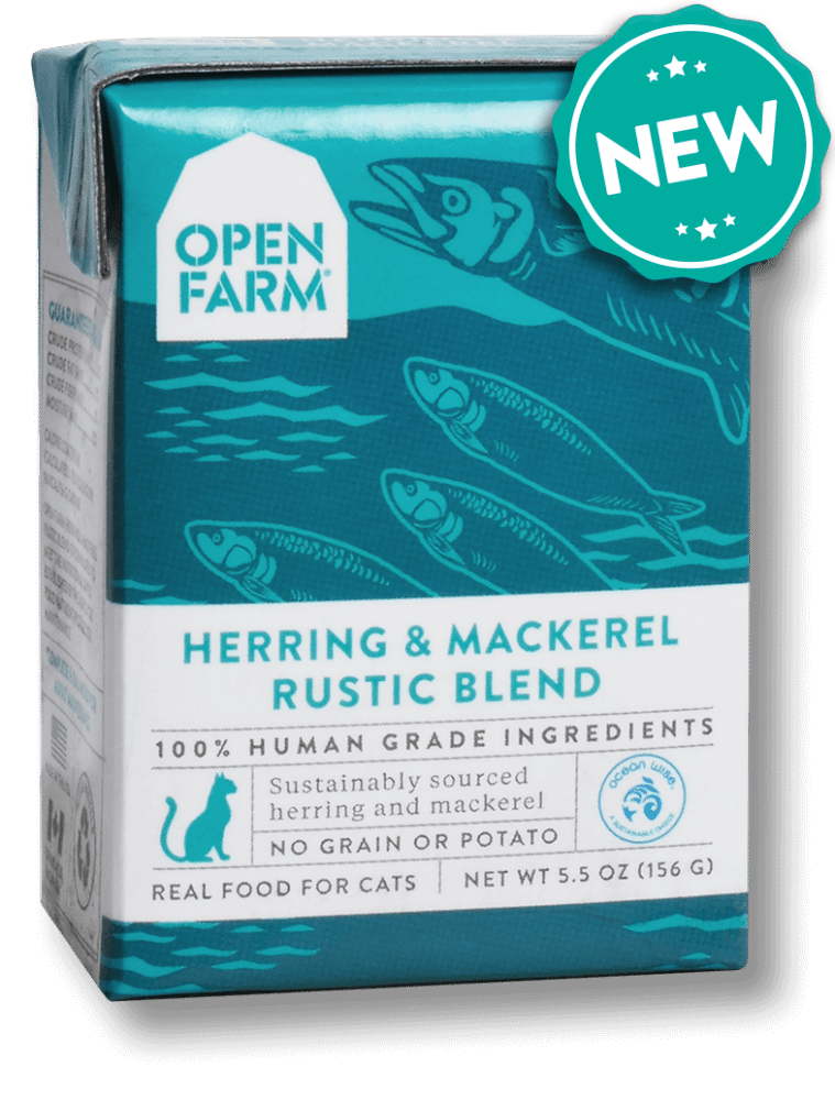 Open Farm Rustic Blend Herring & Mackerel Recipe Wet Cat Food, 5.5-oz