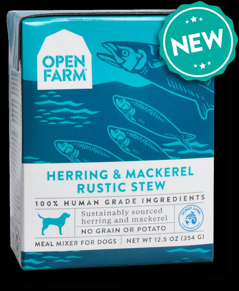 Open Farm Rustic Stew Herring & Mackerel Recipe Wet Dog Food, 12.5-oz