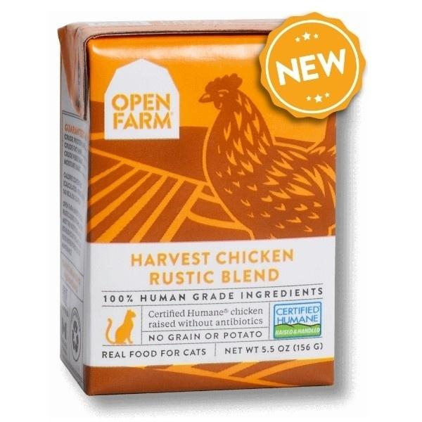 Open Farm Rustic Blend Harvest Chicken Recipe Wet Cat Food, 5.5-oz