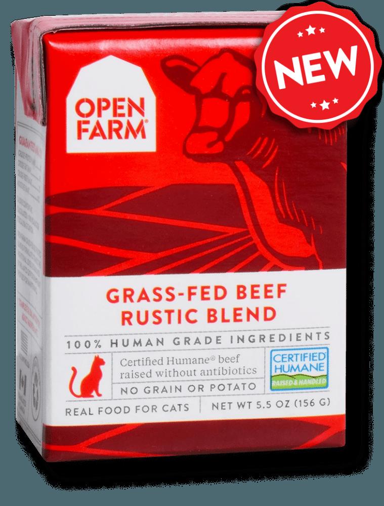 Open Farm Rustic Blend Grass-Fed Beef Recipe Wet Cat Food, 5.5-oz