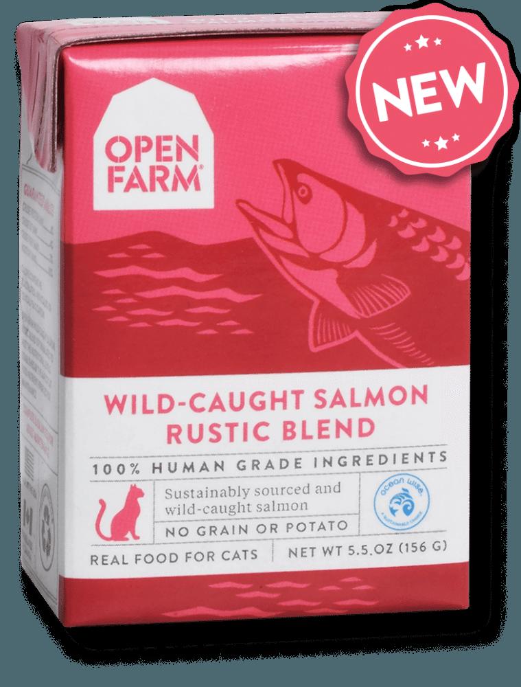 Open Farm Rustic Blend Wild-Caught Salmon Recipe Wet Cat Food, 5.5-oz
