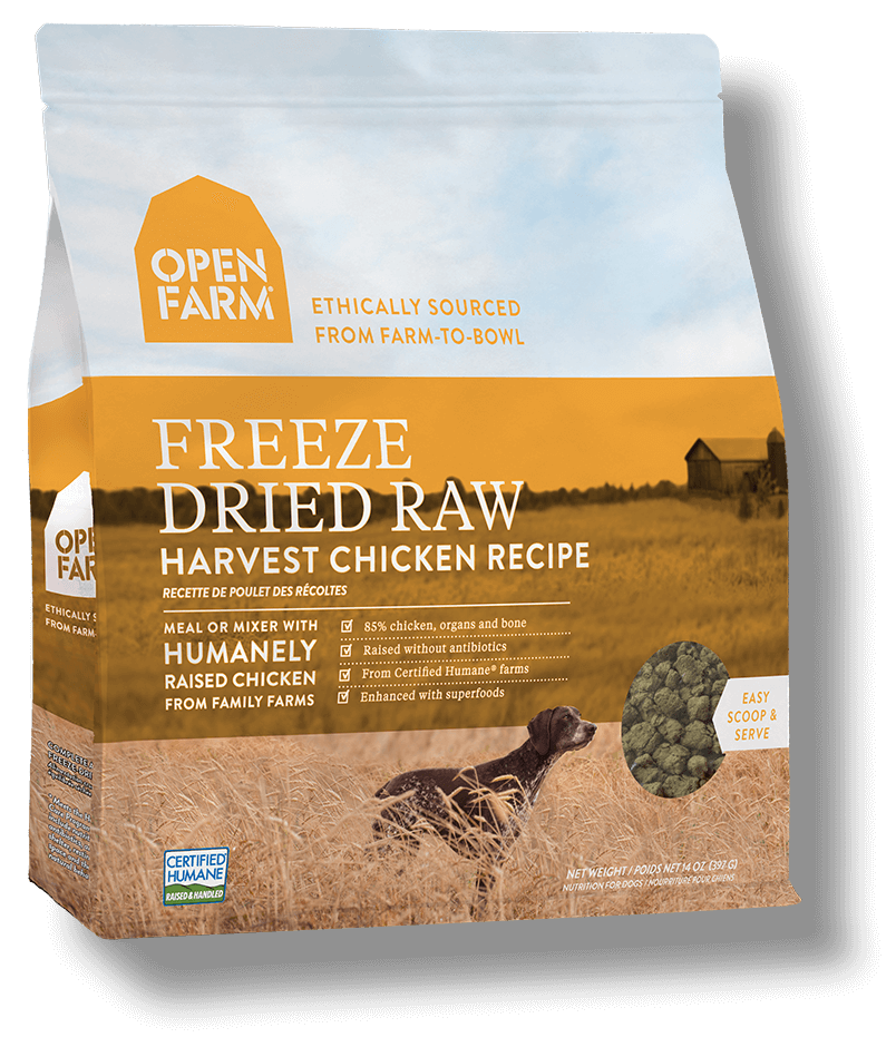 Open Farm Harvest Chicken Recipe Raw Freeze-Dried Dog Food, 13.5-oz (Size: 13.5-oz) Image