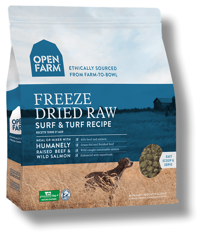 Open Farm Surf & Turf Recipe Raw Freeze-Dried Dog Food, 13.5-oz (Size: 13.5-oz) Image