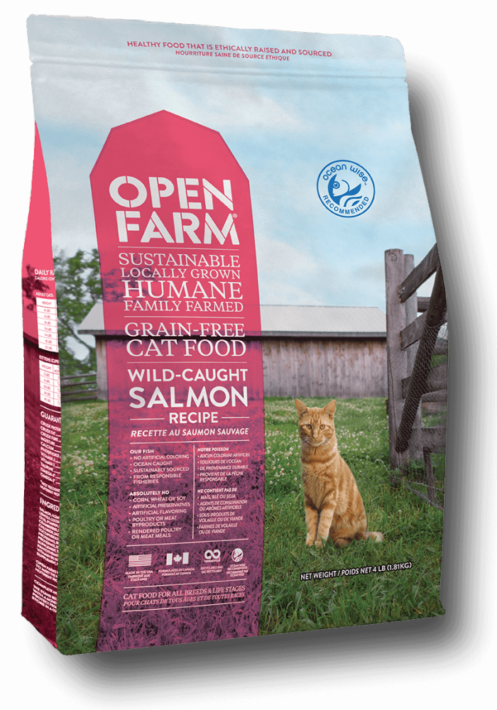 Open Farm Wild-Caught Salmon Recipe Grain-Free Dry Cat Food, 4-lb