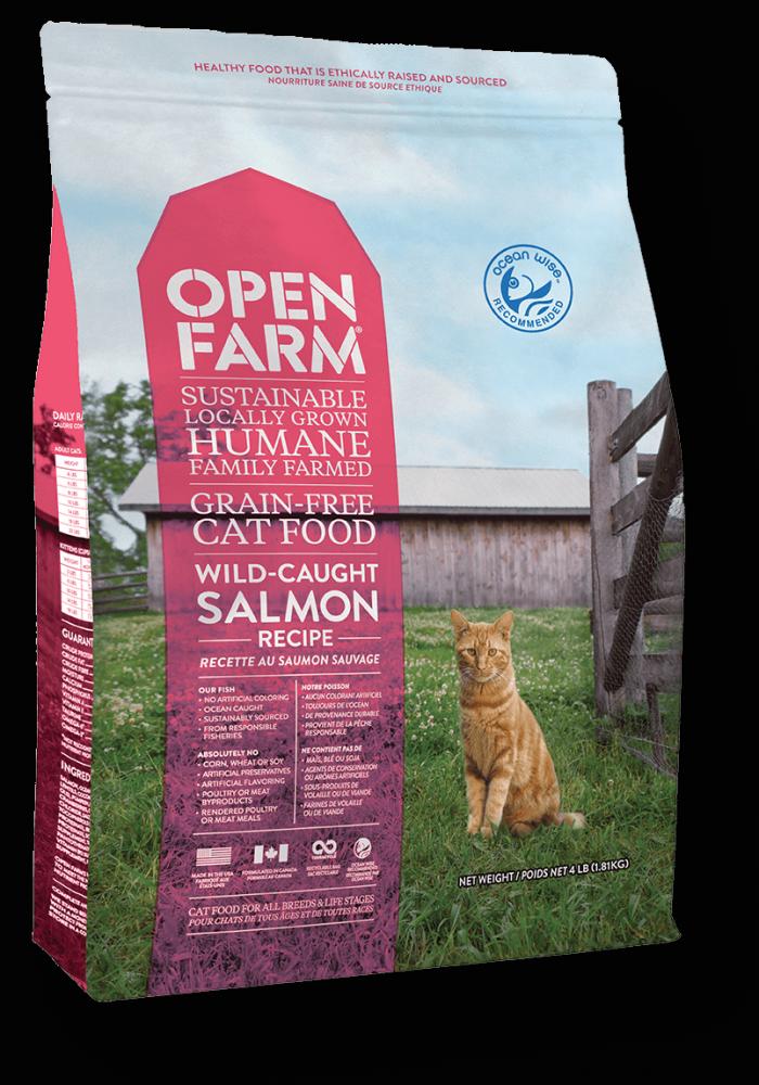 Open Farm Wild-Caught Salmon Recipe Grain-Free Dry Cat Food Image