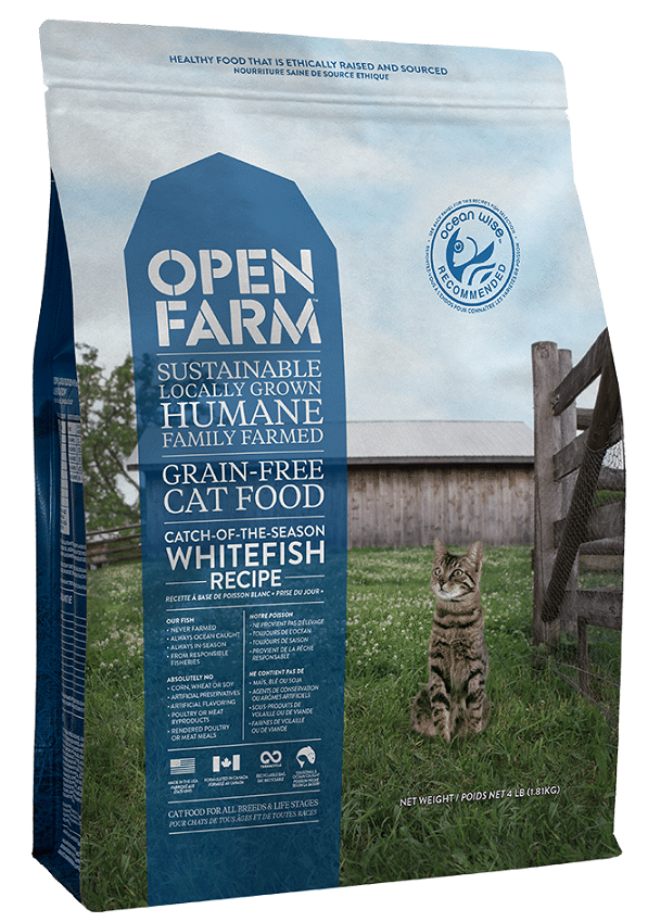 Open Farm Catch-of-the-Season Whitefish Recipe Grain-Free Dry Cat Food, 4-lb