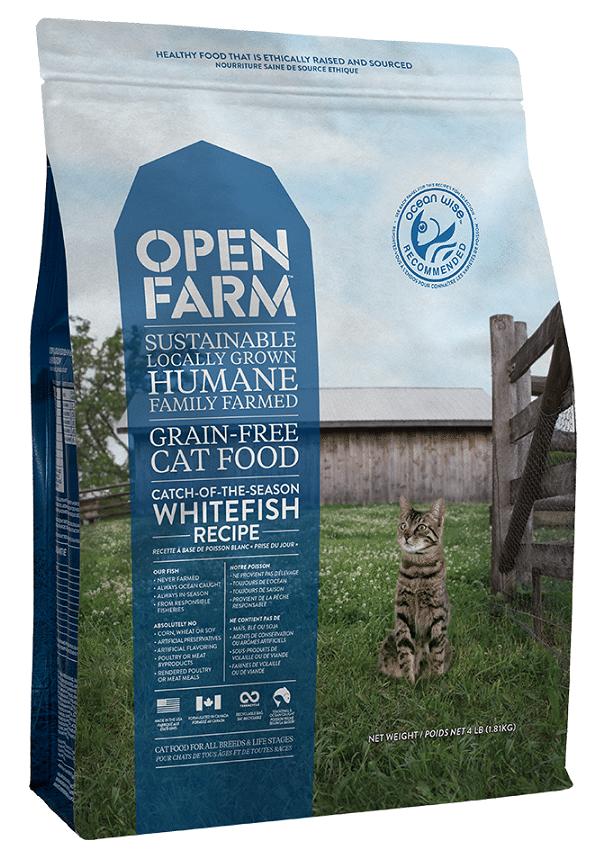 Open Farm Catch-of-the-Season Whitefish Recipe Grain-Free Dry Cat Food, 4-lb