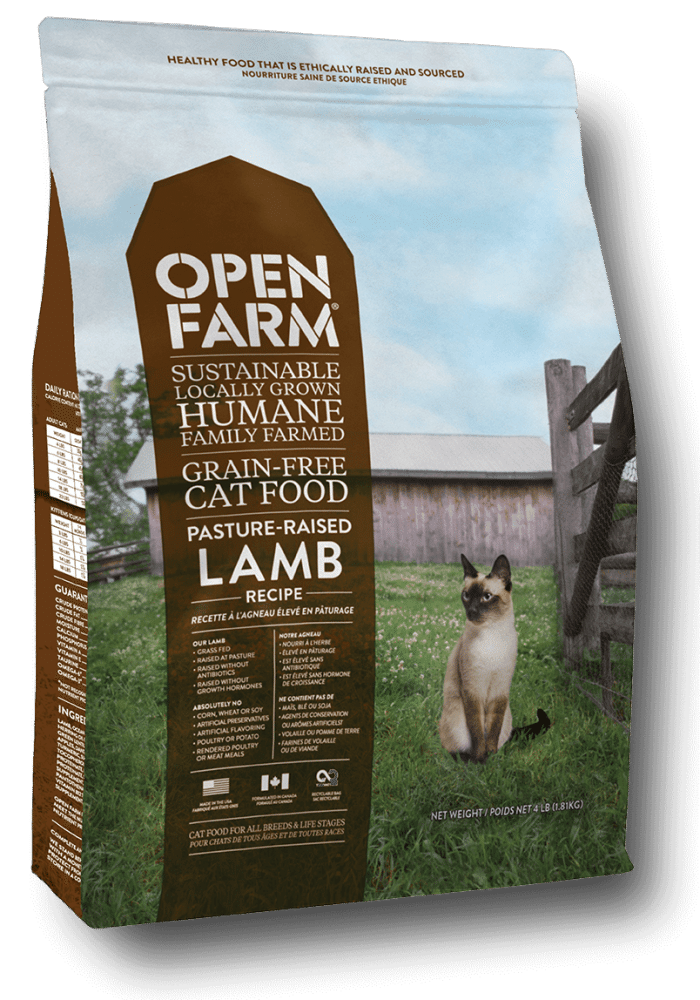 Open Farm Grain-Free Pasture Raised Lamb Recipe Dry Cat Food, 4-lb