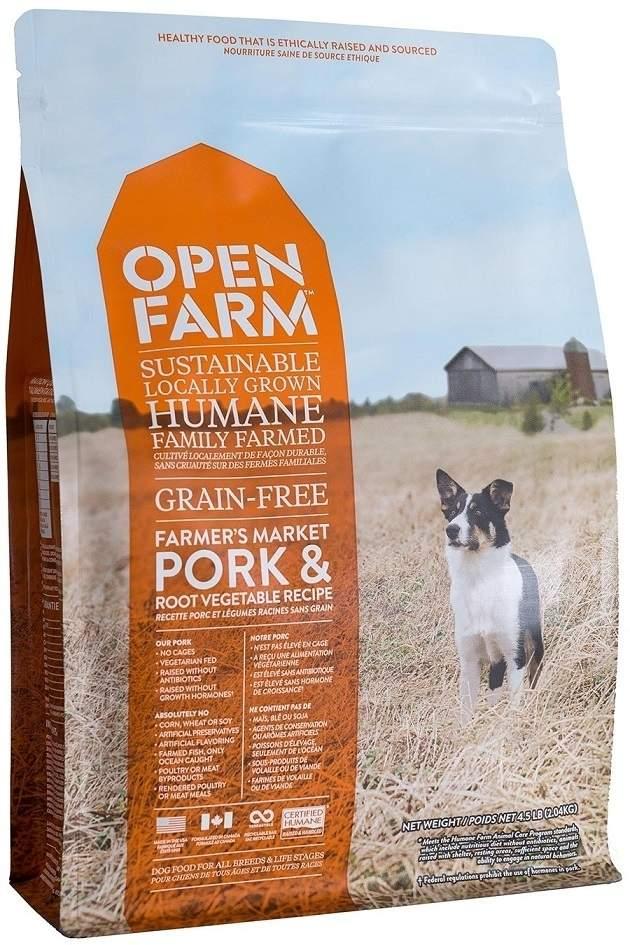 Open Farm Farmer's Market Pork Recipe Grain-Free Dry Dog Food, 12-lb