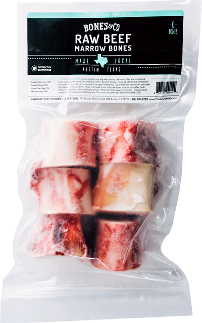 Bones & Co 2in Raw Beef Marrow Bones, 6-pk