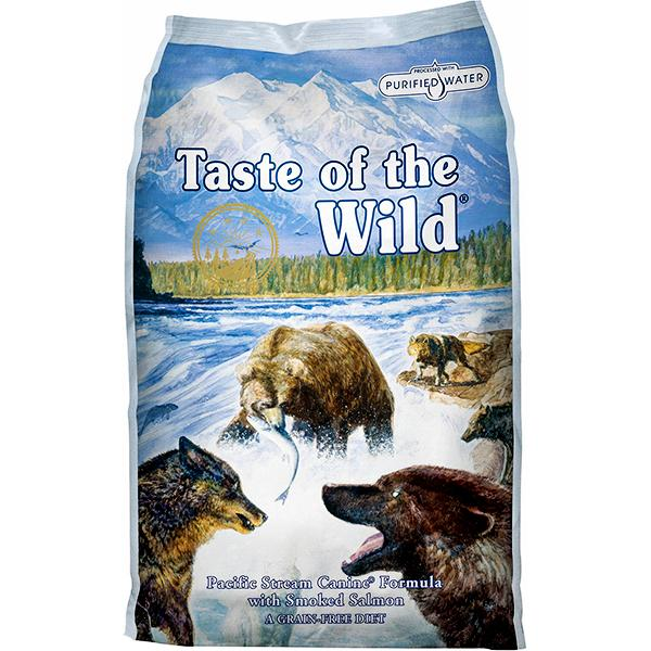 Taste of the Wild Pacific Stream with Smoked Salmon Grain-Free Adult Dry Dog Food, 5-lb