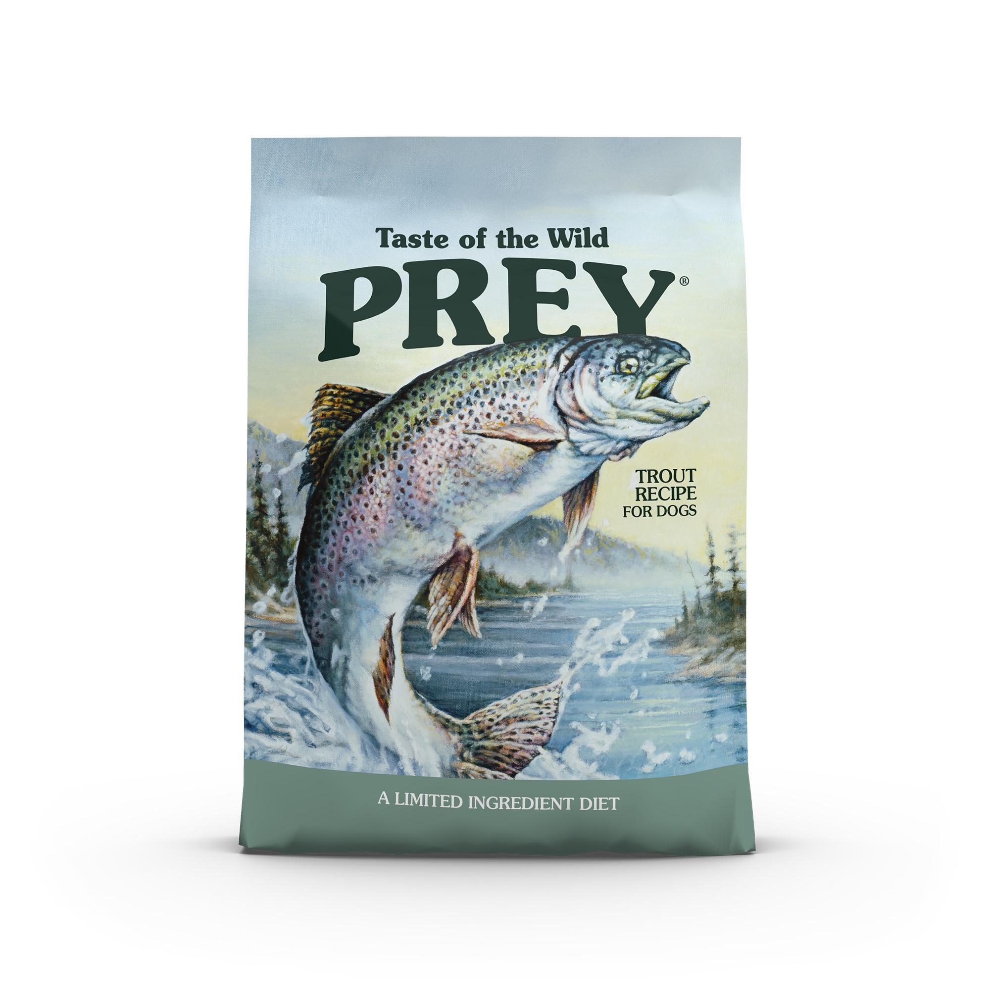 Taste of the Wild Prey Trout Limited Ingredient Formula Grain-Free Dry Dog Food, 8-lb
