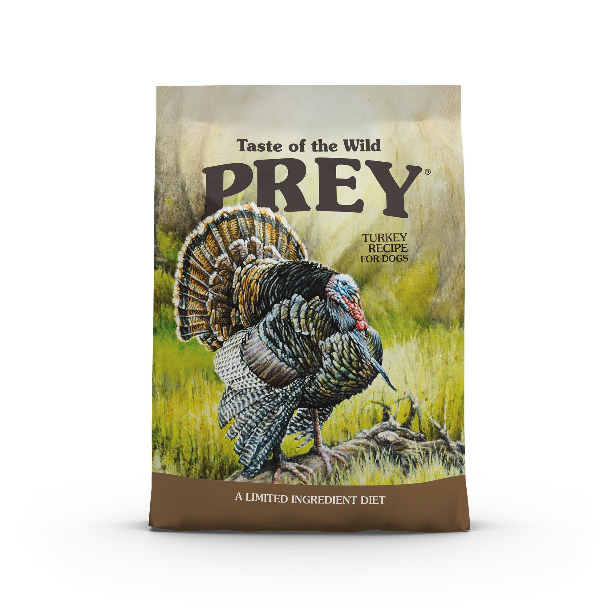 Taste of the Wild Prey Turkey Limited Ingredient Formula Grain-Free Dry Dog Food, 8-lb