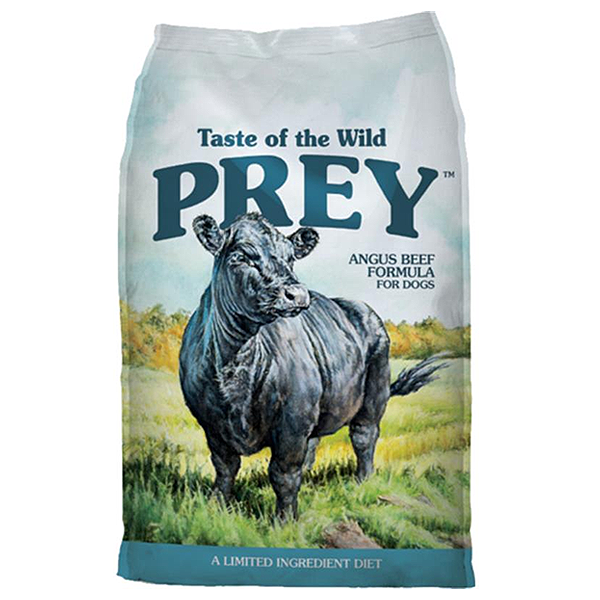 Taste of the Wild Prey Angus Beef Limited Ingredient Formula Grain-Free Dry Dog Food, 8-lb