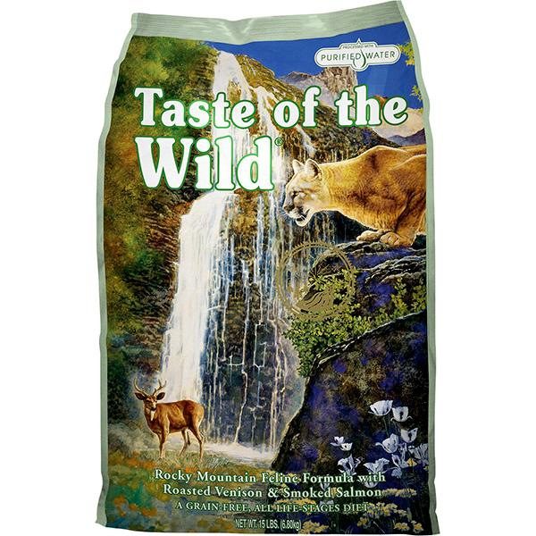 Taste of the Wild Rocky Mountain with Roasted Venison & Smoked Salmon Grain-Free Dry Cat Food Image