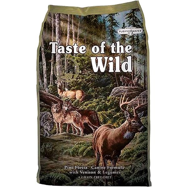 Taste of the Wild Pine Forest with Venison & Legumes Grain-Free Adult Dry Dog Food, 5-lb