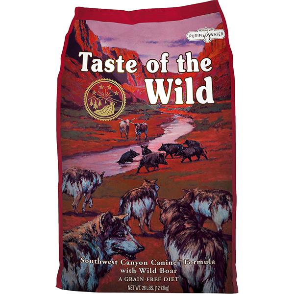 Taste of the Wild Southwest Canyon with Wild Boar Grain-Free Adult Dry Dog Food, 28-lb