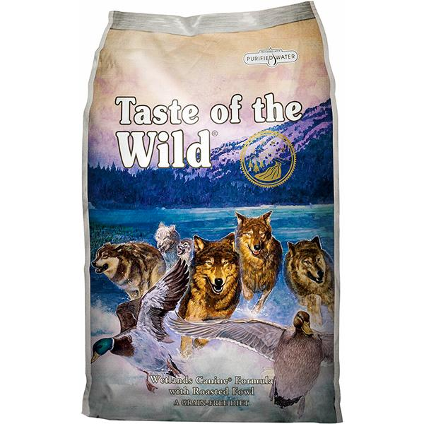 Taste of the Wild Wetlands with Roasted Fowl Grain-Free Adult Dry Dog Food, 30-lb