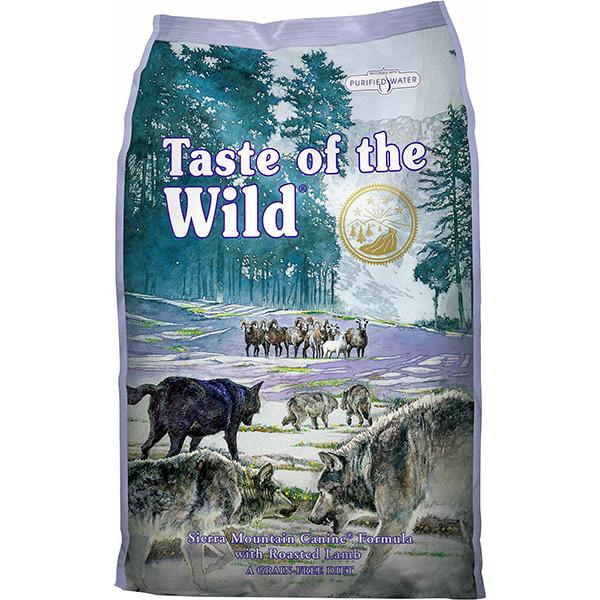 Taste of the Wild Sierra Mountain with Roasted Lamb Grain-Free Adult Dry Dog Food, 15-lb