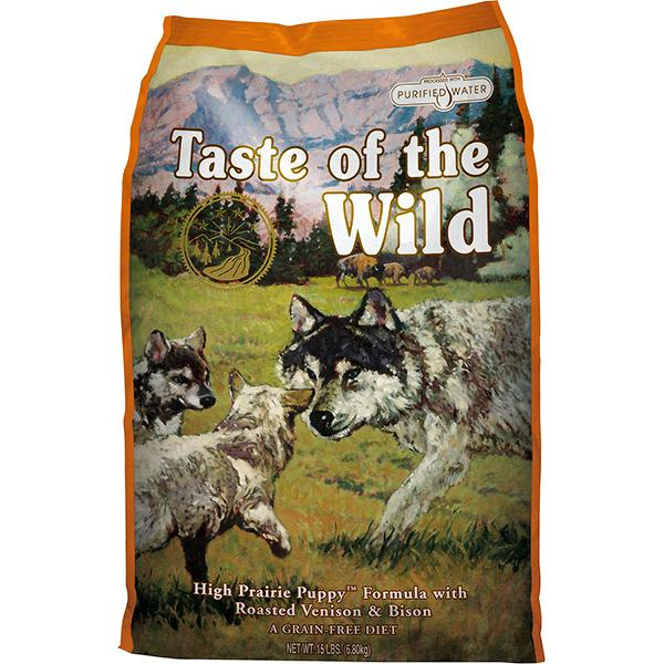 Taste of the Wild High Prairie with Roasted Bison & Venison Grain-Free Puppy Dry Dog Food, 5-lb