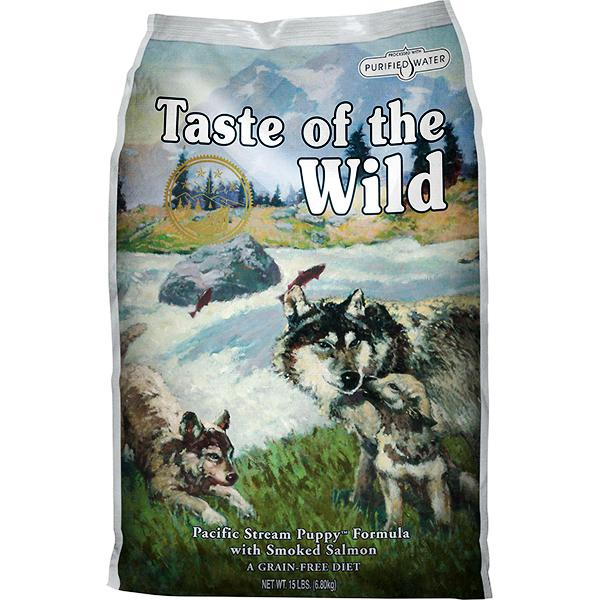 Taste of the Wild Pacific Stream with Smoked Salmon Grain-Free Puppy Dry Dog Food, 30-lb