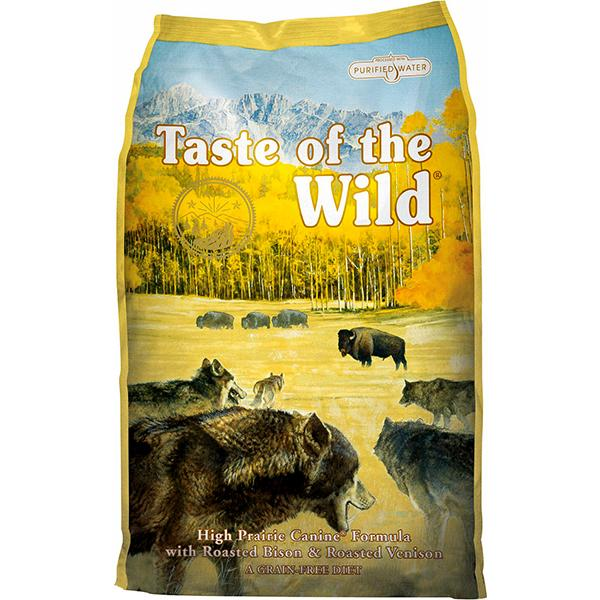 Taste of the Wild High Prairie with Roasted Bison & Venison Grain-Free Adult Dry Dog Food, 15-lb