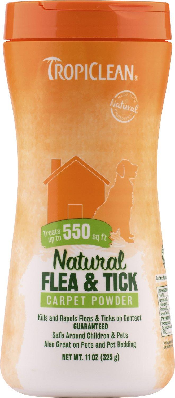 TropiClean Natural Flea & Tick Carpet & Pet Powder, 11-oz bottle
