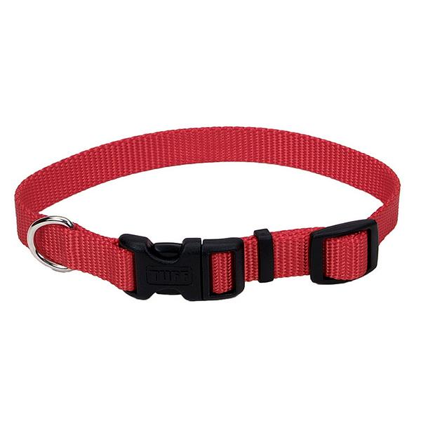 Coastal Tuff Dog Collar, Red, 5/8-in x 10-14-in