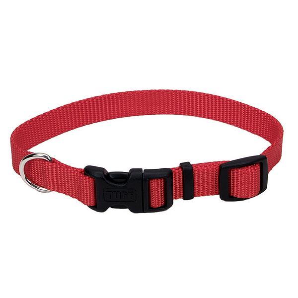 Coastal Tuff Dog Collar, Red, 3/4-in x 14-20-in