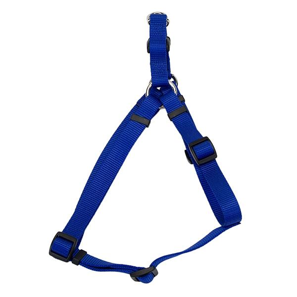 Coastal Comfort Wrap Adjustable Nylon Harness, Blue, Large ( 26-in-38-in Girth, 1-in Straps )