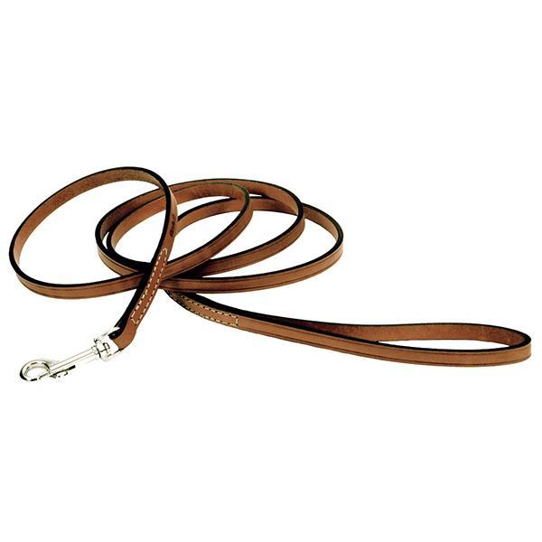 Circle T Oak Tanned Leather Dog Leash, Tan Image