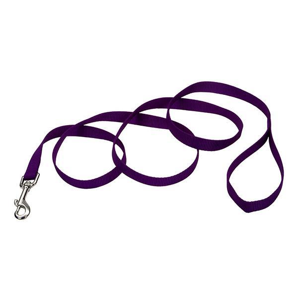 Coastal Single-Ply Dog Leash, Purple, 5/8-in Wide x 4-ft Long