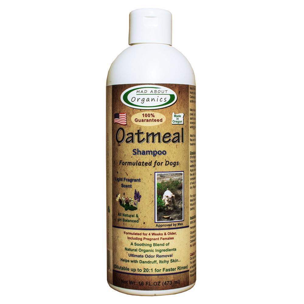 Mad About Organics Oatmeal Shampoo for Dogs, 16-oz