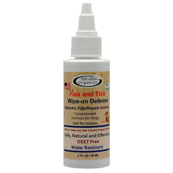 Mad About Organics Organic Flea & Tick Wipe On Defense Dog Topical Liquid, 2-oz