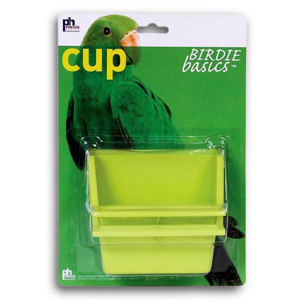 Prevue Pet Products Birdie Basics Plastic Bird Perch High Back Mountable Feeding Cup, 4oz