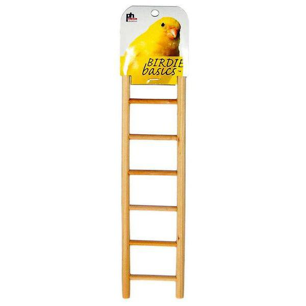 Prevue Pet Products Birdie Basics Wooden Ladder Habitat Addition, 12-in (7 Step)