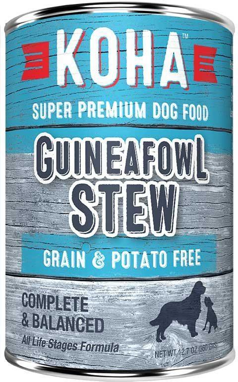 Koha Minimal Ingredient Guineafowl Stew Wet Dog Food, 12.7-oz