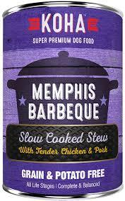 Koha Slow Cooked Stew Memphis BBQ Wet Dog Food, 12.7-oz