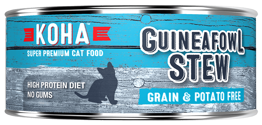 Koha Cat Minimal Ingredient Guineafowl Stew Wet Cat Food, 5.5-oz