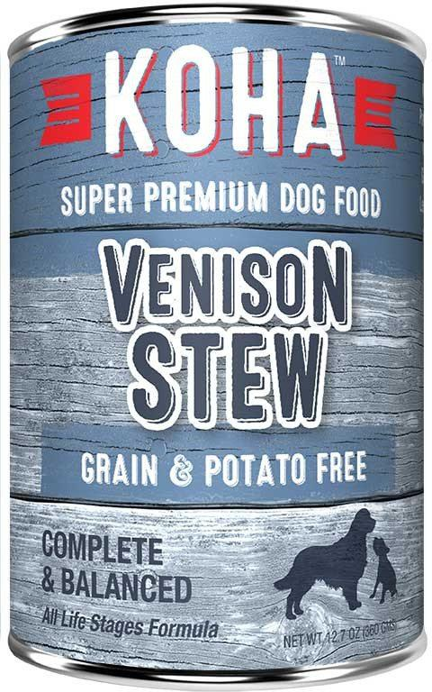 Koha Minimal Ingredient Venison Stew Wet Dog Food, 12.7-oz