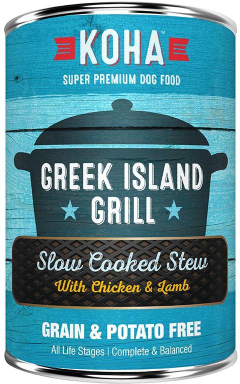 Koha Slow Cooked Stew Greek Island Grill Wet Dog Food, 12.7-oz