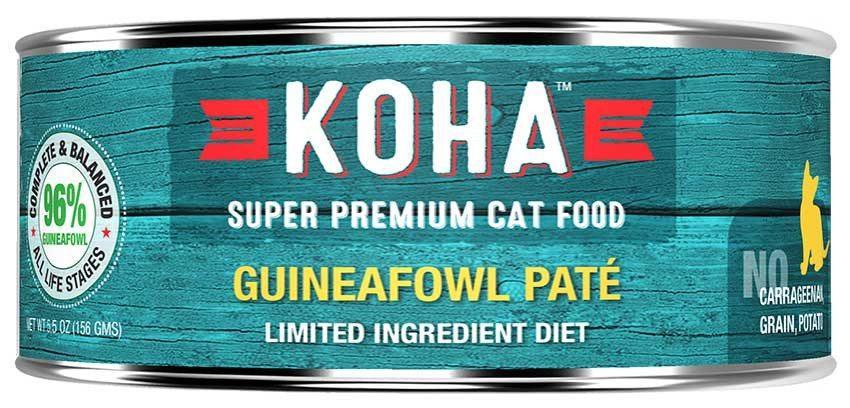 Koha Cat Limited Ingredient Diet Pate Guineafowl Wet Cat Food, 5.5-oz