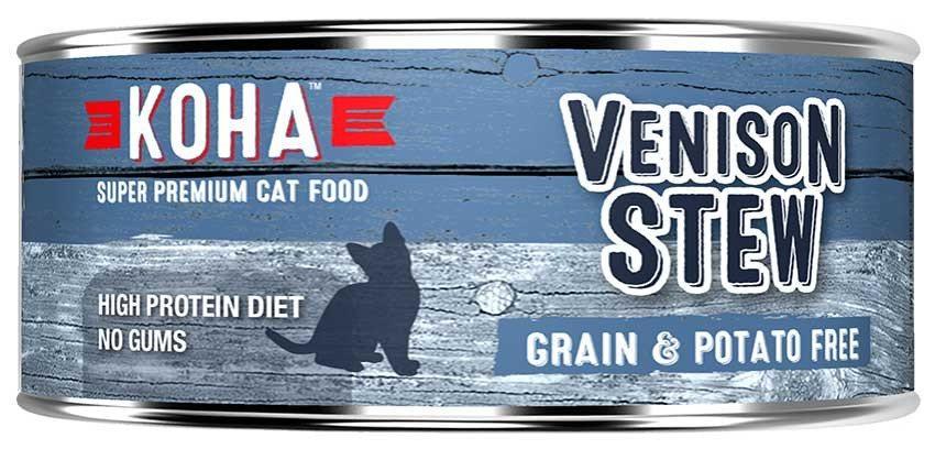 Koha Cat Minimal Ingredient Venison Stew Wet Cat Food, 5.5-oz