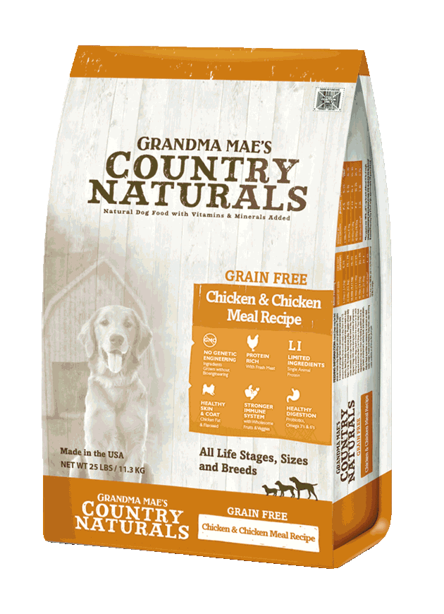 Grandma Mae's Country Naturals Grain-Free Limited Ingredient Chicken Dry Dog Food, 14-lb