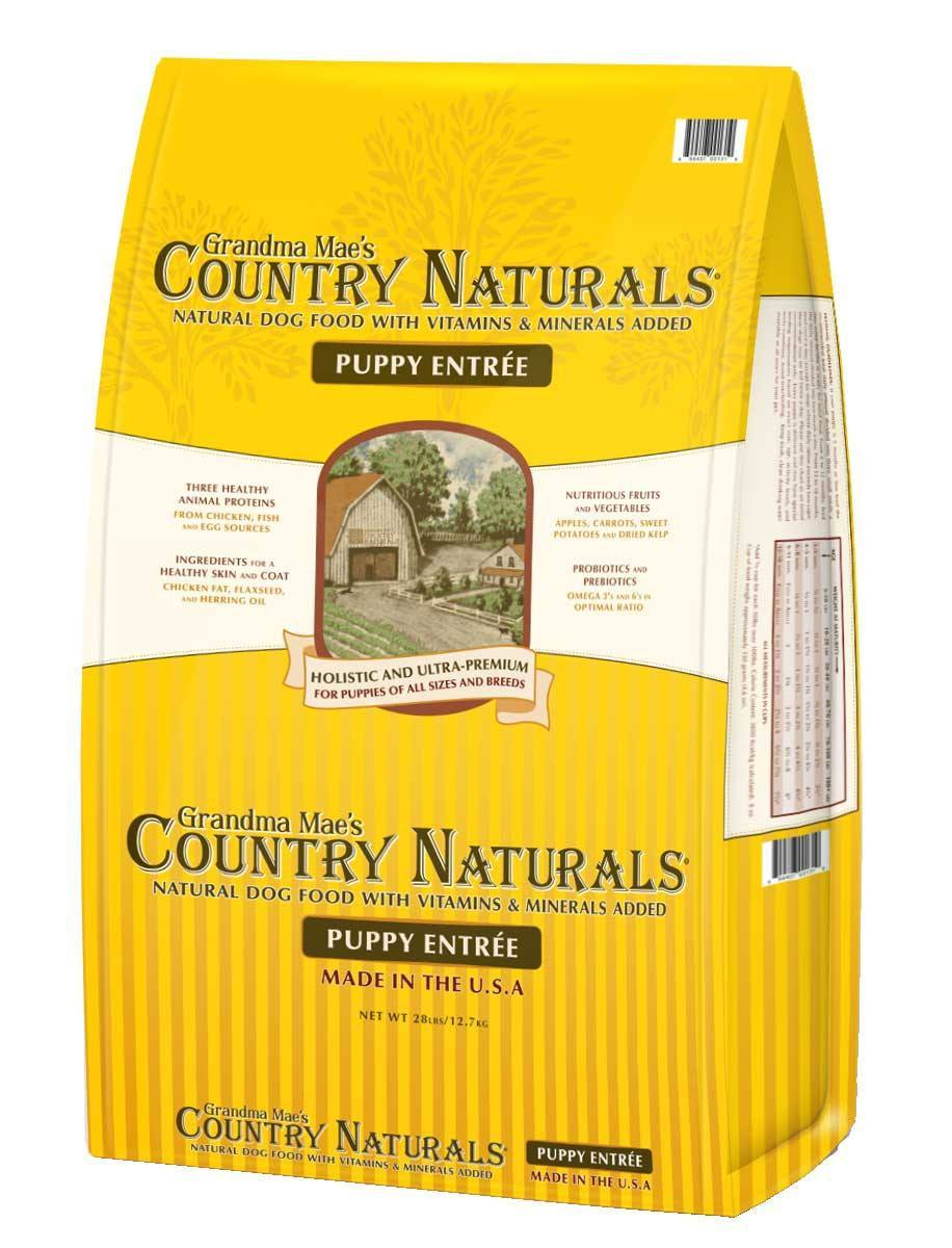 Grandma Mae's Country Naturals Puppy Entrée Dry Dog Food, 4-lb