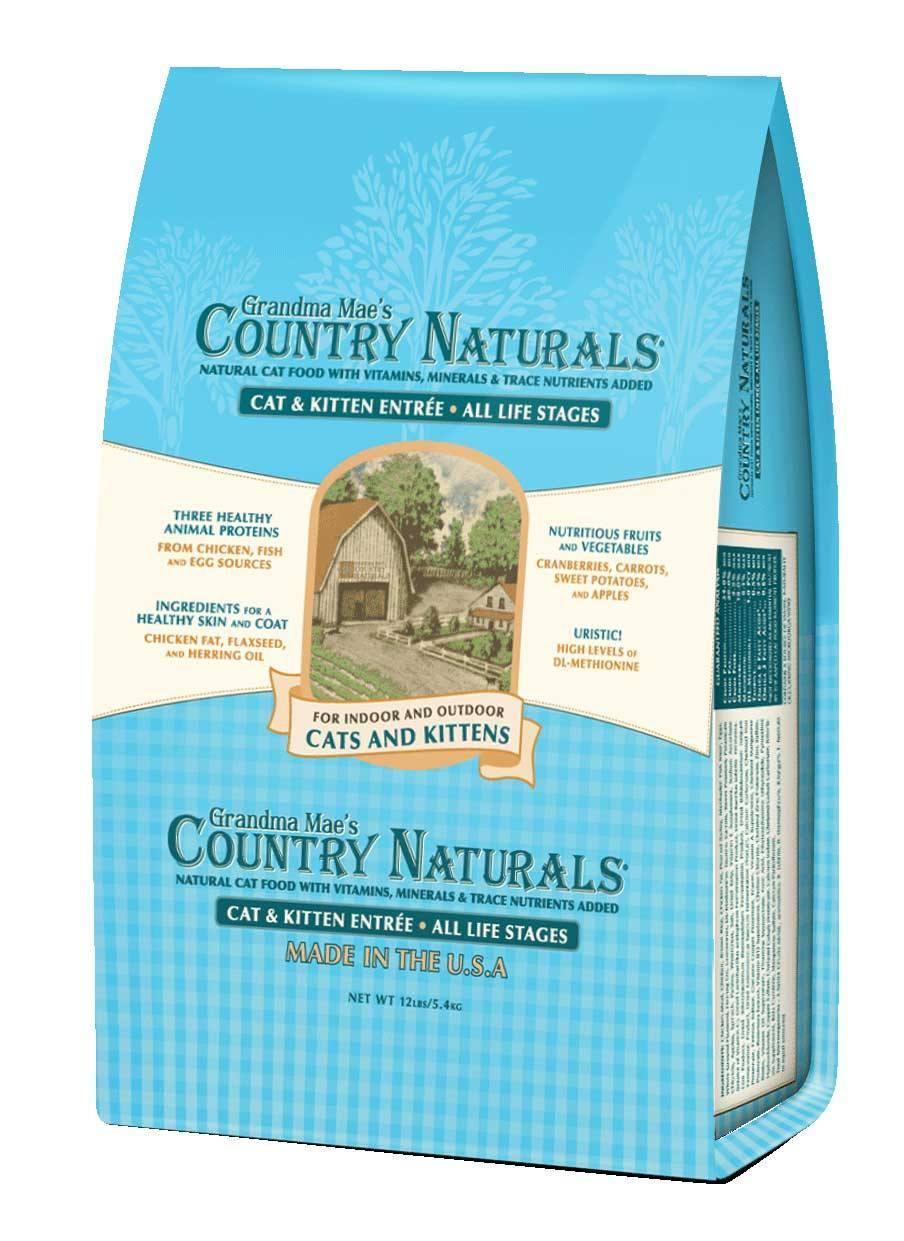 Grandma Mae's Country Naturals Cat & Kitten Entrée Dry Cat Food, 6-lb