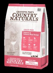Grandma Mae's Country Naturals Grain-Free Salmon Entrée Dry Cat Food, 6-lb