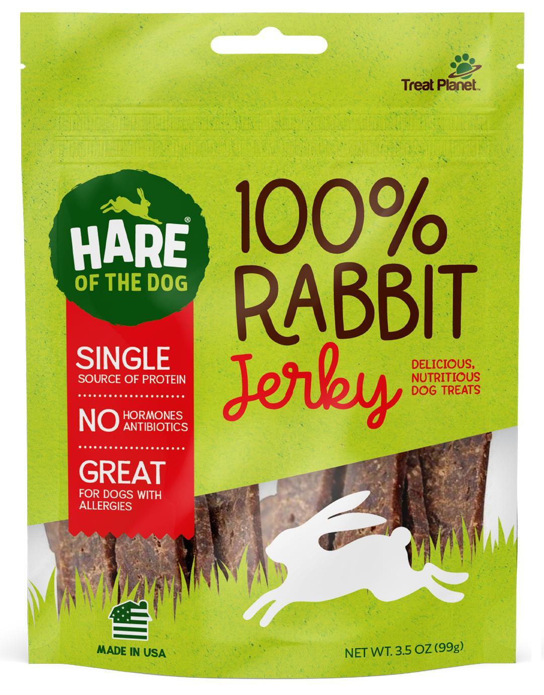 Hare of the Dog 100% Rabbit Jerky Dog Treats, 3.5-oz