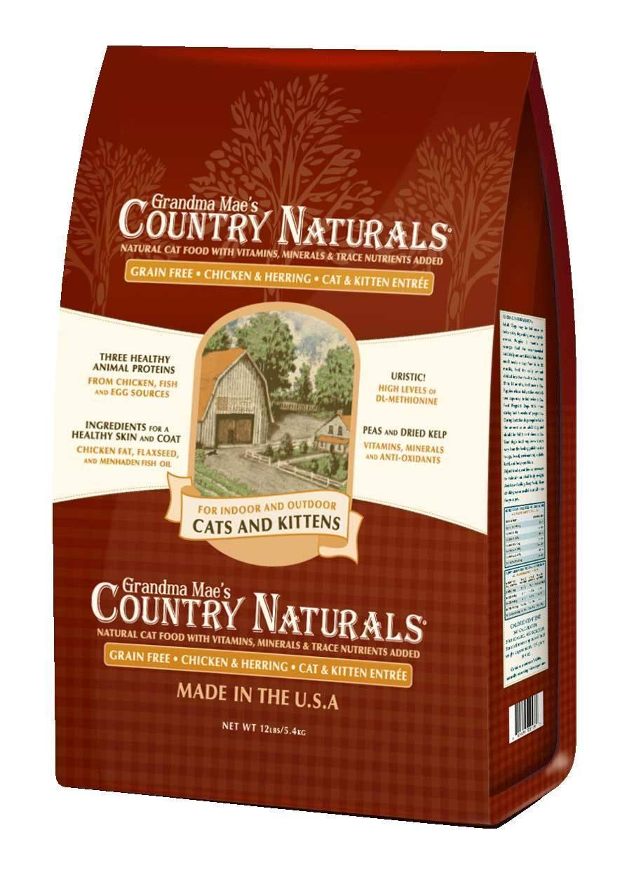 Grandma Mae's Country Naturals Grain-Free Cat & Kitten Entrée Dry Cat Food, 6-lb